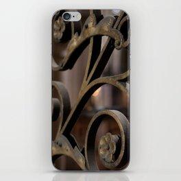 Fer forge at Notre Dame de Paris iPhone Skin