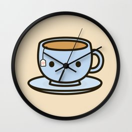 Cute cup of tea Wall Clock