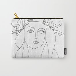 Picasso Line Art - Woman's Head Carry-All Pouch