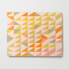 Mellow Triangles Metal Print