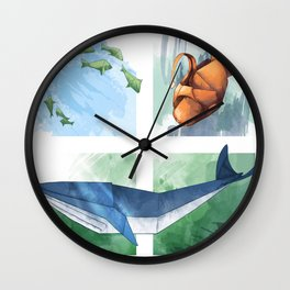 Down in the Ocean Wall Clock
