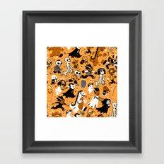 Alt Monster March (Orange) Framed Art Print