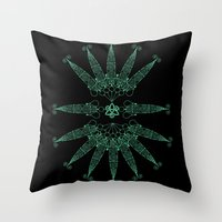 angels Throw Pillows featuring Angels by Daniac Design