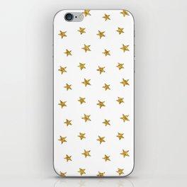 Merry christmas-Stars shining brightly-Gold glitter pattern iPhone Skin