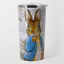 Peter Rabbit vintage Beatrix Potter illustration Travel Mug