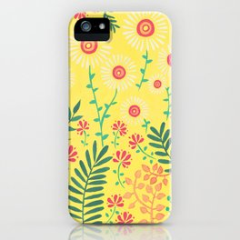 A Yellow Flowery Pattern iPhone Case