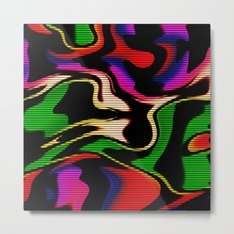 Hot abstraction with lines 1 Metal Print