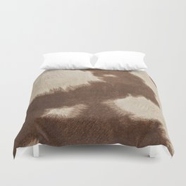 Cowhide Brown and White Duvet Cover