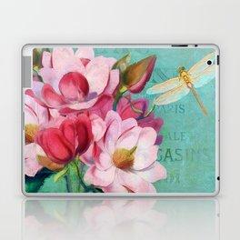 Verdigris Pink Magnolias Laptop & iPad Skin