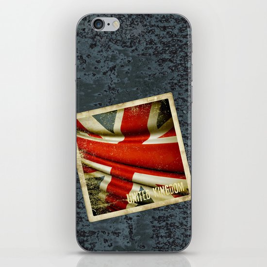 Sticker with UK flag iPhone & iPod Skin