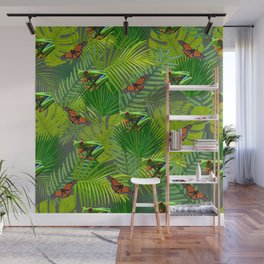 Frogs and Monarchs Wall Mural
