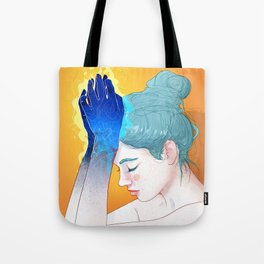 Fire Hands Tote Bag