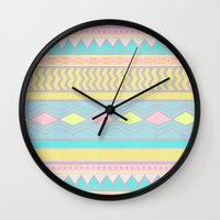 egyptian Wall Clocks featuring Egyptian II by Louise Machado