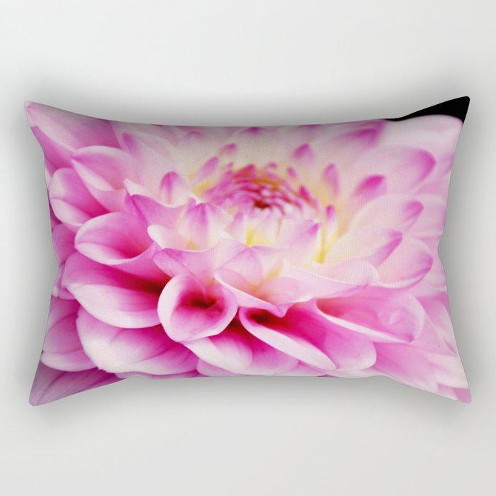 Close up pink dahlia Rectangular Pillow
