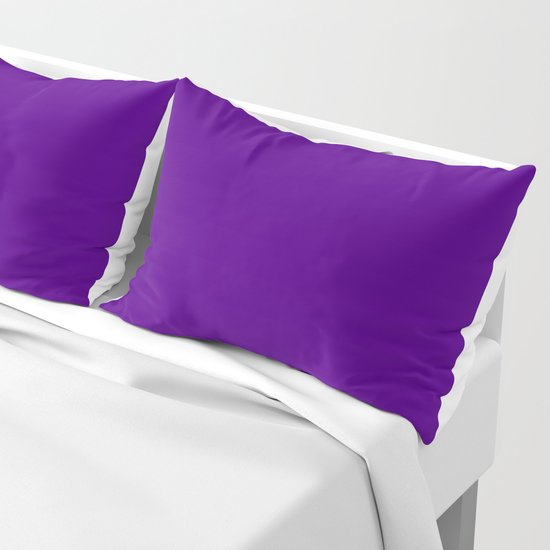 Solid Bright Purple Indigo Color by podartist