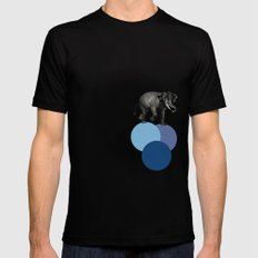 elephant balance MEDIUM Mens Fitted Tee Black