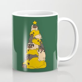 Christmas Tree Pugs Coffee Mug