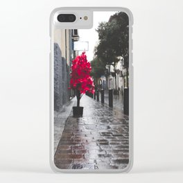 Christmas landscape Clear iPhone Case
