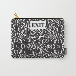 Skulls and Skeletons - Exit Sign Carry-All Pouch