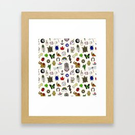 Lucky charms pattern Framed Art Print