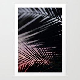 Sunset Palms Pink Art Print