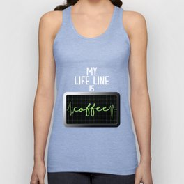 My Life Line Is Coffee Unisex Tank Top