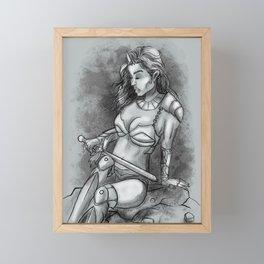 Resting knight Framed Mini Art Print