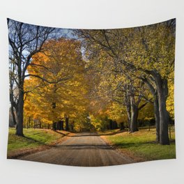 Rural country gravel road in Autumn Wall Tapestry