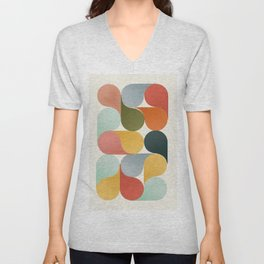 Shapes of color - abstract Unisex V-Neck