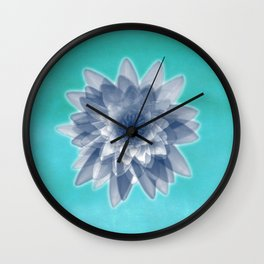 Lotus flowers in blue Wall Clock