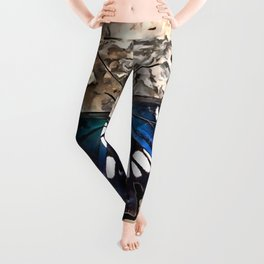 Southern White Admiral On Stone Butterfly Portrait Leggings