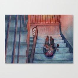"""watercolor painting / """"secret place"""" Canvas Print"""