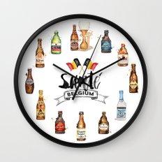 Belgium Beers Wall Clock
