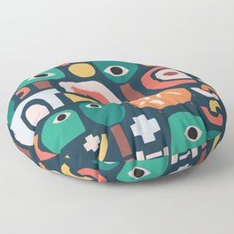 Abstract Playground Floor Pillow