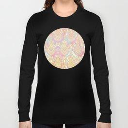 Rosy Opalescent Art Deco Pattern Long Sleeve T-shirt