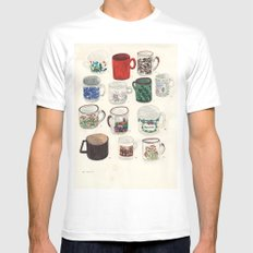 Cups Mens Fitted Tee MEDIUM White