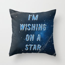 I'm wishing on a Star - 50 Years Moonlanding Throw Pillow