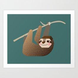 Sleepy Sloth Art Print