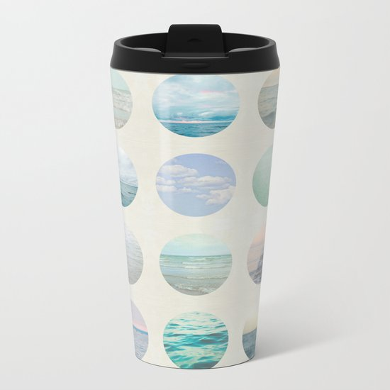 Ocean Polka dot  Metal Travel Mug