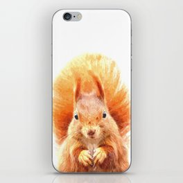 Squirrel Portrait iPhone Skin