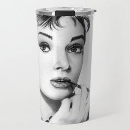 Audrey Hepburn Pencil drawing Travel Mug
