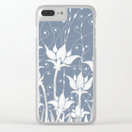 White anemones Clear iPhone Case