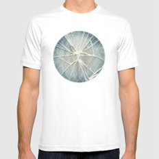 Shattered MEDIUM Mens Fitted Tee White