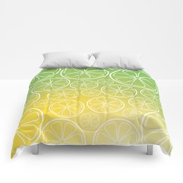 Citrus slices (green/yellow) Comforters