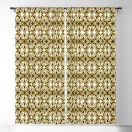 Filigree- Gold the Digital Maori collection Blackout Curtain