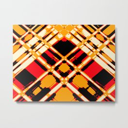 Sun Strike - Digital Art piece Metal Print