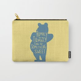 Rumbly in my Tumbly Time for Something Sweet - Winnie the Pooh inspired Print Carry-All Pouch