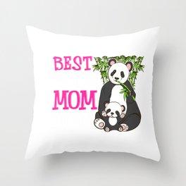 Cute Best Panda Mom Ever Adorable Panda Family Throw Pillow