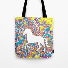 Unicorn Drawing Meditation (color) Tote Bag