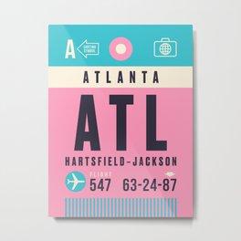 Luggage Tag A - ATL Atlanta Hartsfield Jackson Metal Print